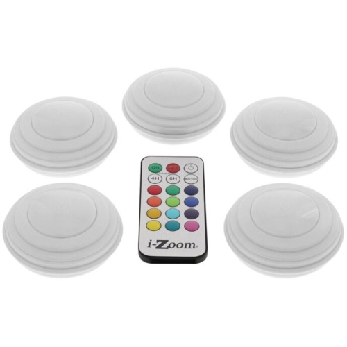 5 Pack Wireless Remote Morphing Led Lights
