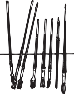 15-PIECE ARTIST'S BRUSH SET