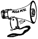 LIGHTWEIGHT 5-WATT MEGAPHONE WITH VOLUME CONTROL