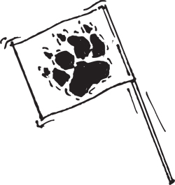 "PAWPRINT FLAGS ON 7"" STAKES/SKEWERS"
