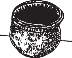 FAUX ROMAN ERA POT