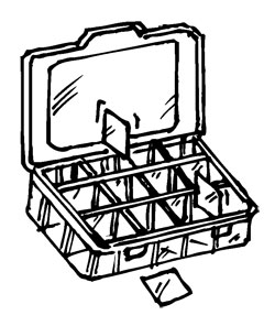 ADJUSTABLE-COMPARTMENT STORAGE BOX