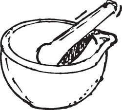 900ML LARGE MORTAR & PESTLE