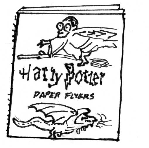 HARRY POTTER PAPER AIRPLANE BOOK