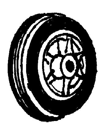 PLASTIC WHEELS WITH RUBBER TIRES