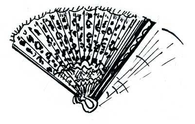 LEOPARD-PATTERN ACCORDION FANS