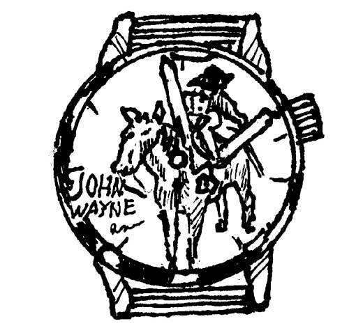 JOHN WAYNE WRIST WATCH