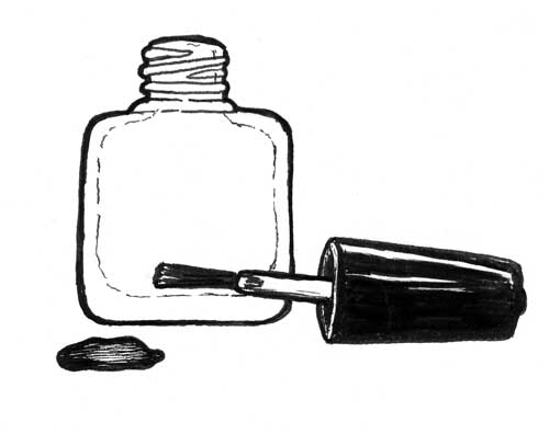 NAIL POLISH BOTTLES WITH BRUSH CAPS