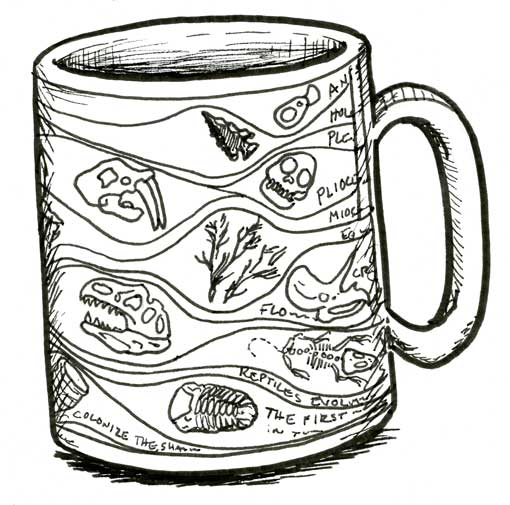 GEOLOGIC-ERA COFFEE MUG