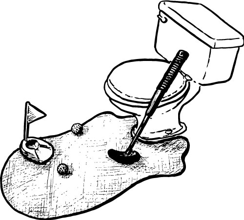 TOILET GOLF PUTTING GAME