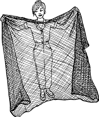 8 X 5-FOOT BLACK NYLON NETTING