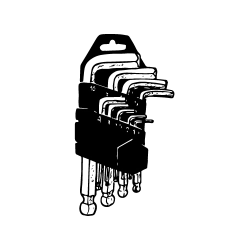 9-PIECE HEX KEY SET