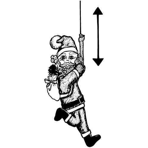 CLIMBING SANTA CLAUS DECORATION