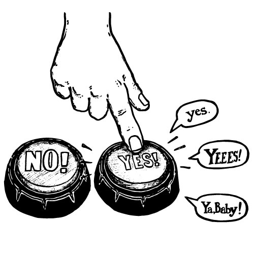 TALKING YES-NO BUTTONS