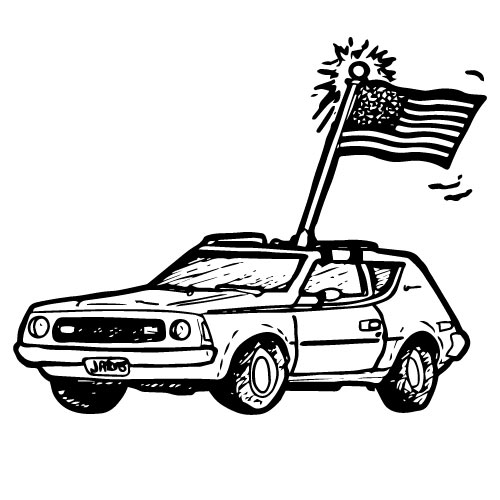 CAR ROOFTOP AMERICAN FLAG MOUNTING KIT
