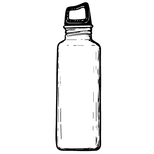 STAINLESS STEEL WATER BOTTLE WITH SLEEVE